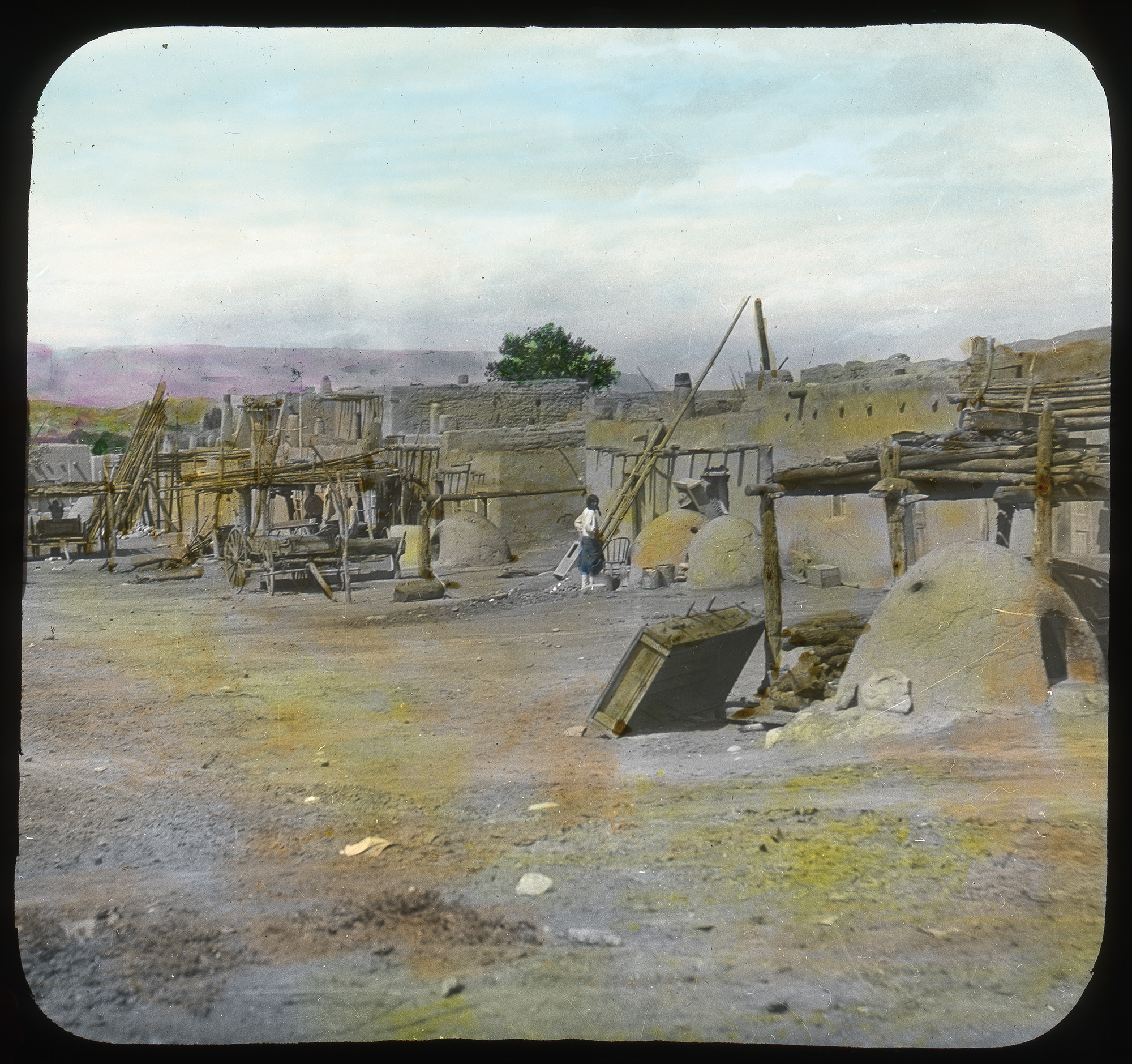 A pueblo in the desert of the southwest United States.