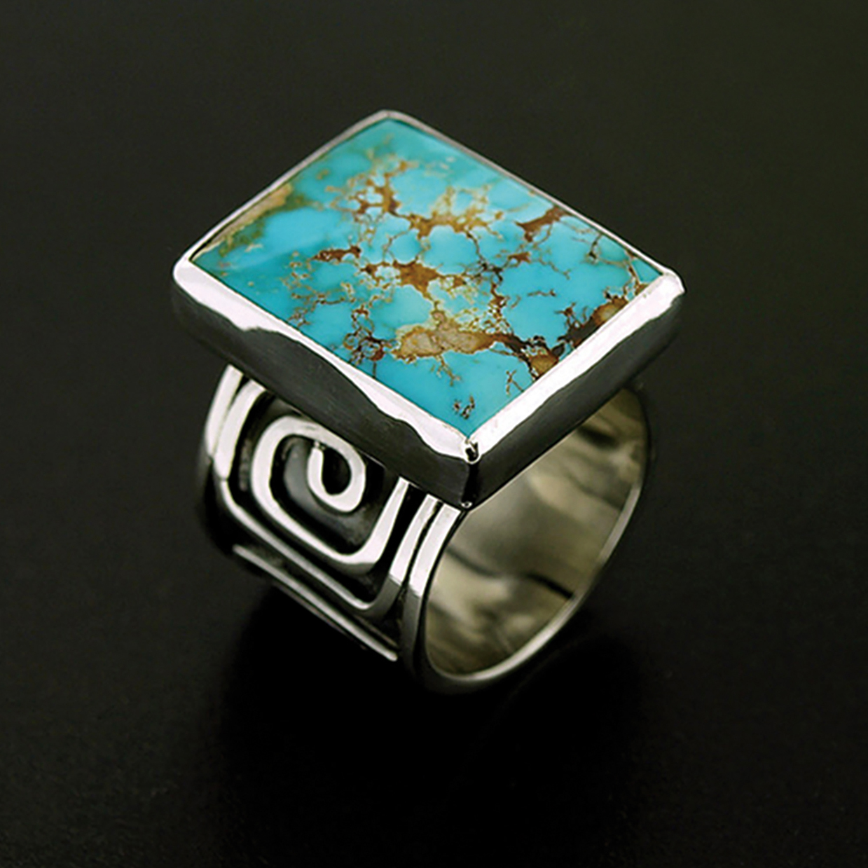A ring that will be featured at the 2017 Indian Art Market at NHMU.