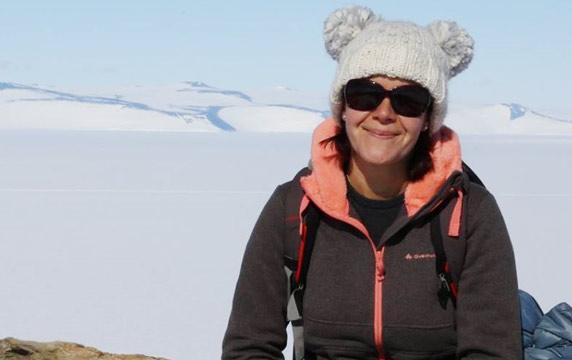Anne-Laure in Antarctica