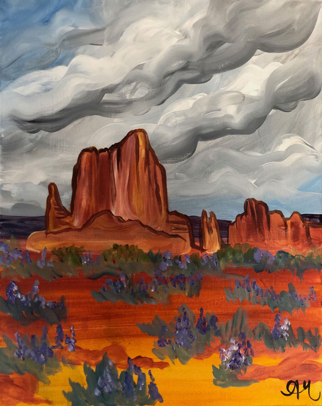 A painting of Capitol Reef National Park.