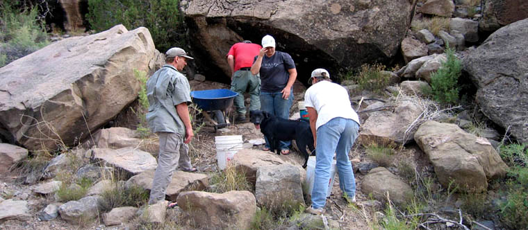 Experimental archaeology in Range Creek Canyon.