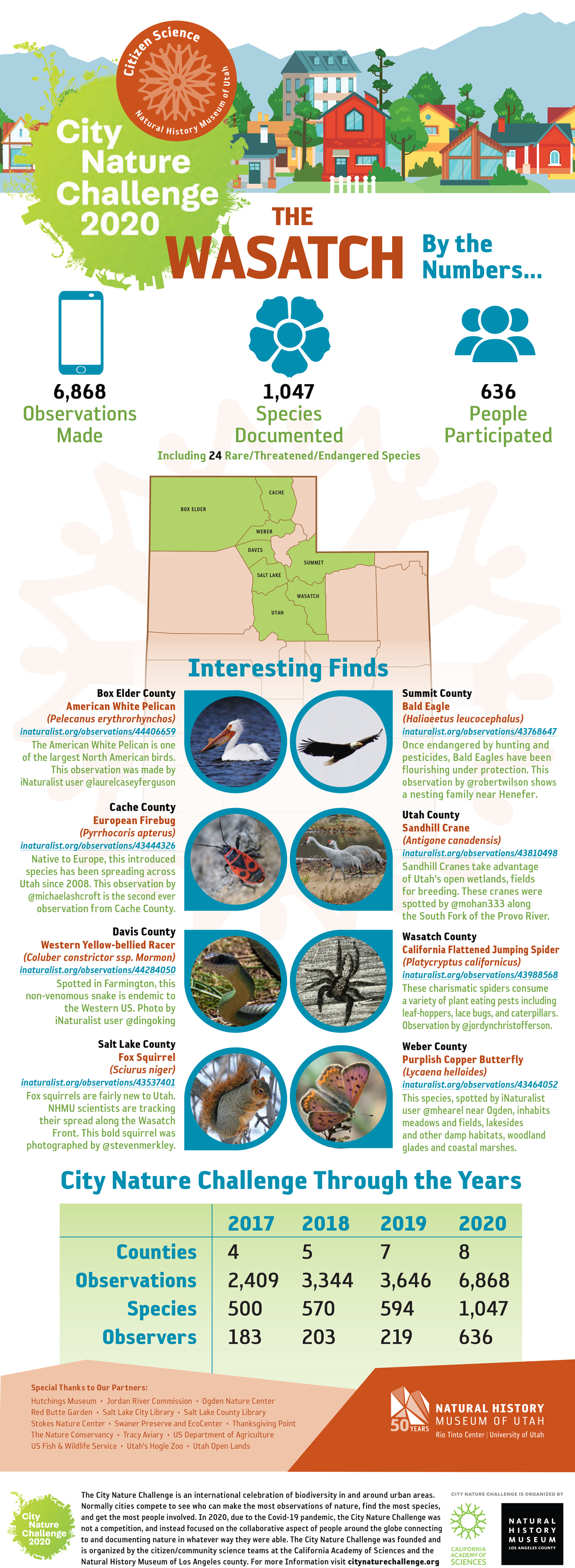 City Nature Challenge results graphic