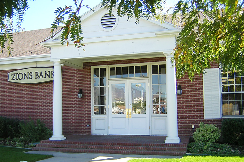 Zions Bank branch in Lehi, Utah.