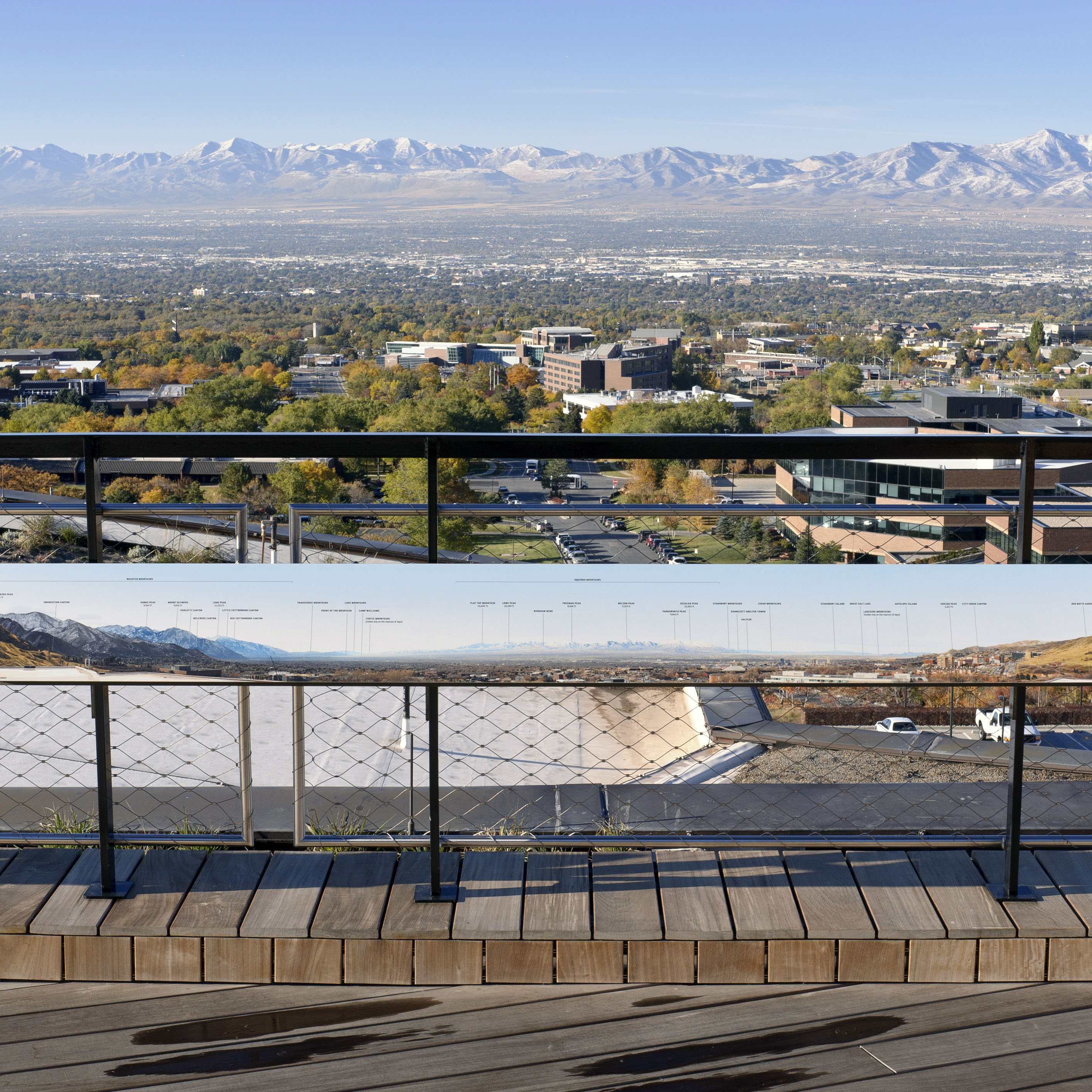 View of the Salt Lake Valley from the Sky Terrace at NHMU