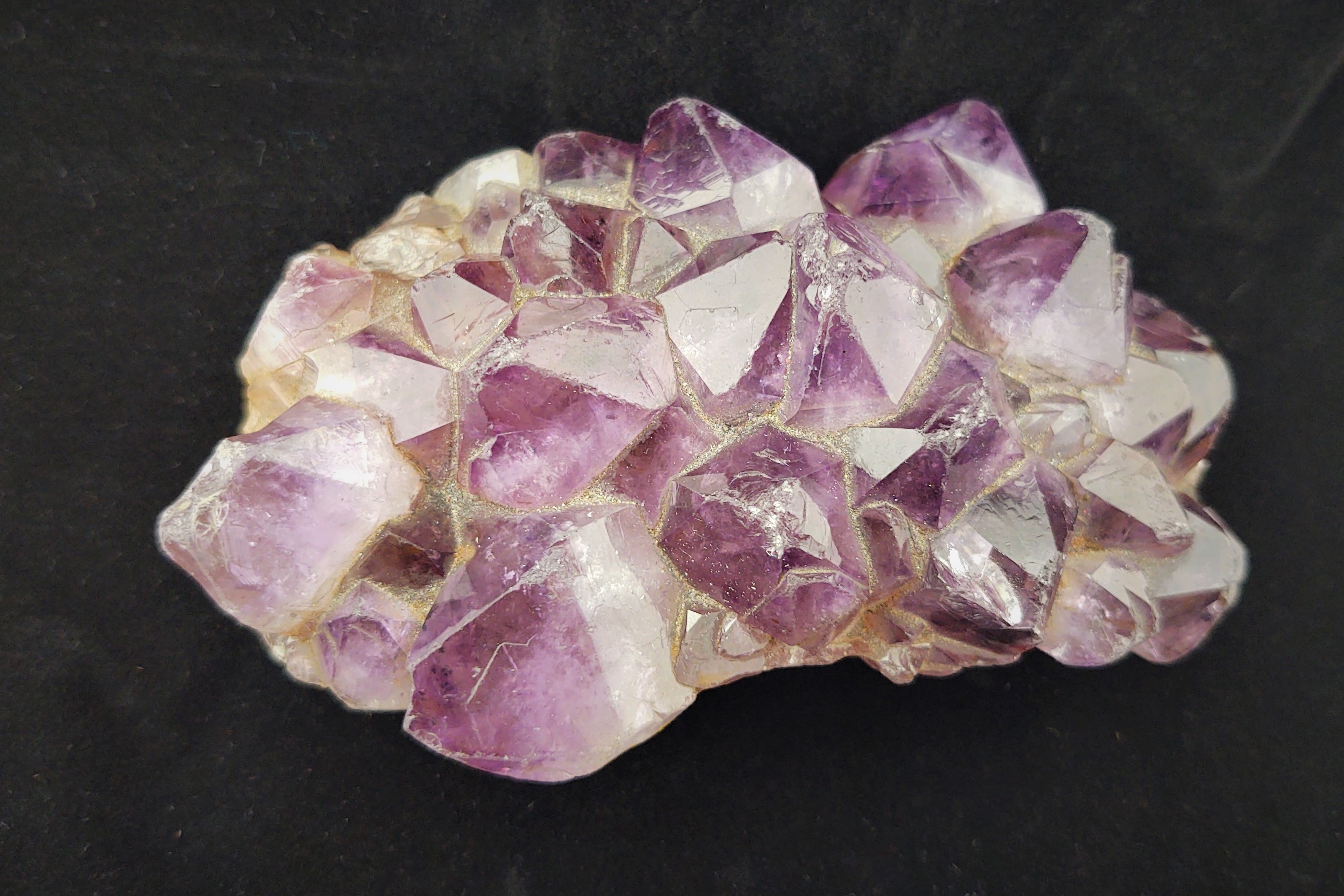 A cluster of purple crystals