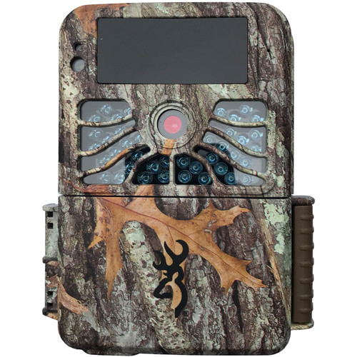 A Browning trail camera with camouflage case.