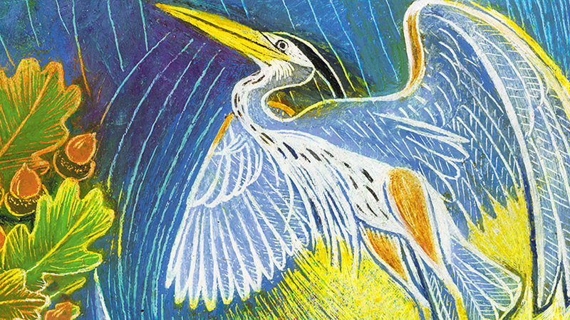 An illustration of a heron.