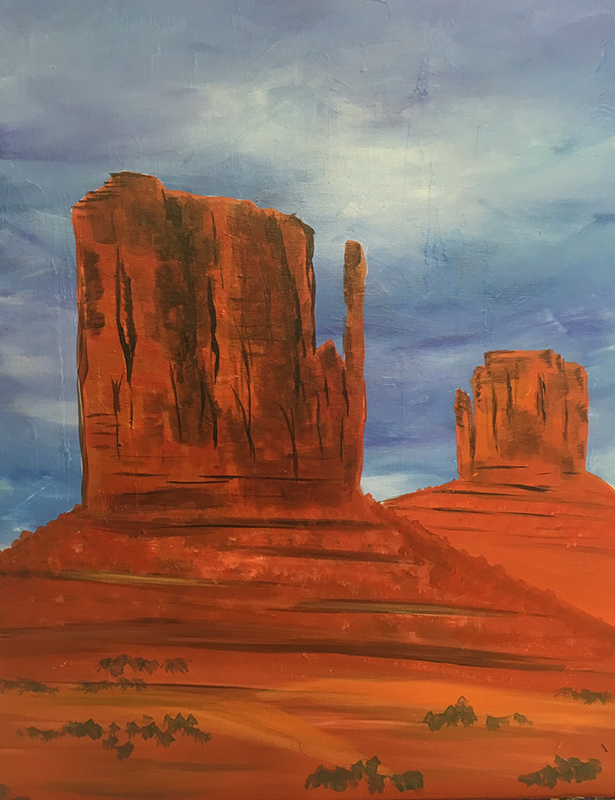 Painting of Monument Valley