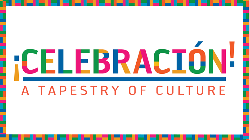 """Celebracion: A Tapestry of Culture"" in colorful font"