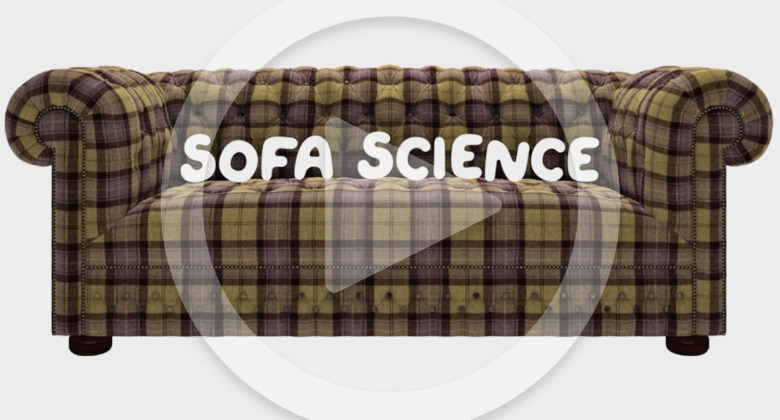 A sofa with the text 'Sofa Science'
