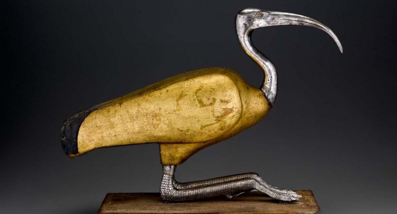 Image of Ibis coffin, a beautiful object from Ancient Egypt.
