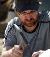 A paleontologist working in the field.