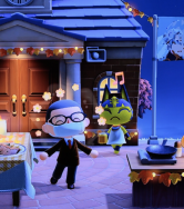 screenshot from a video game of a cartoon family