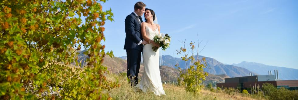 Perfect setting for a spring wedding in Salt Lake City.