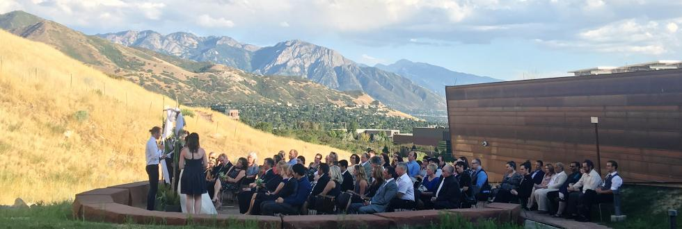 Weddings in the foothills of the Wasatch Front in Salt Lake City.