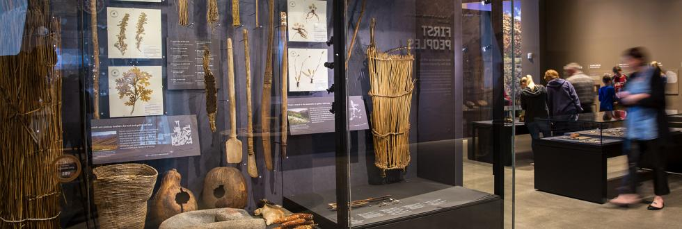 The First Peoples exhibit at NHMU.