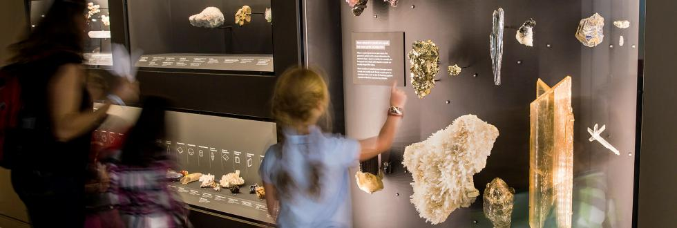 The Gems and Minerals exhibit at NHMU.