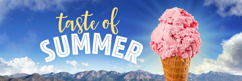 """""""Taste of Summer"""" and an ice cream cone"""