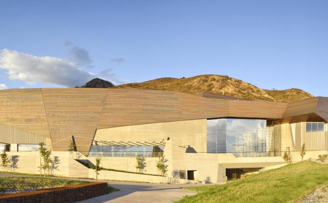 Rio tinto center goes for gold natural history museum of for Utah home design architects