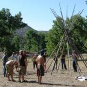 Teepee construction.